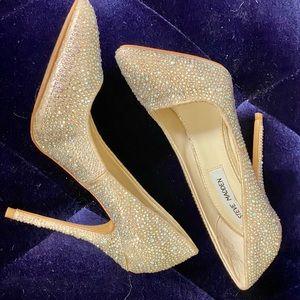 Steve Madden Embellished Heels Champagne LENONA 6B